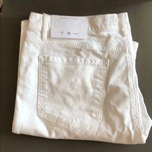 New Loft white modern fit jeans